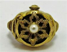 Gold Bucherer Ring Watch gold plated 17 Jewels size 7.5