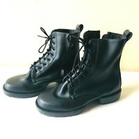 Bloch Womens Size 7  Lace-Up Ankle Boots Dance Military Combat Black