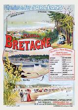 Affiche chemin de fer Orléans - Plages de Bretagne 2