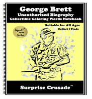George Brett Baseball Card Sports Trading Card Notebook AUTHOR AUTOGRAPH SET