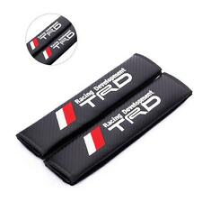 2x Toyota TRD Carbon Fiber + Embroidery Car Seat Belt Cover Pad Shoulder Cushion