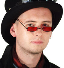 Steampunk-Victorian-Gothic-Halloween-Dracula-Lord Byron-Red Demon Specs/Glasses