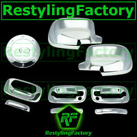 99-06 Chevy Silverado Chrome Mirror+2 Door Handle+PSG Keyhole+Tailgate+Gas Cover
