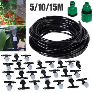 5/10/15m Water Misting Cooling System Mist Sprinkler Nozzles Set Outdoor Garden