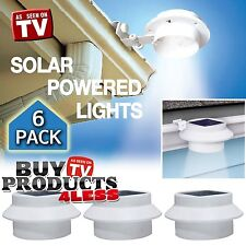 6 Pack Solar Powered Outdoor Waterproof Gutter LED Security Spot Flood Light