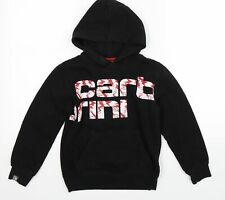Carbrini Boys Black   Pullover Hoodie Size 9-10 Years
