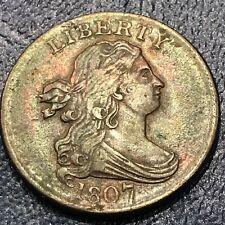 1807 HALF CENT DRAPED BUST  W23