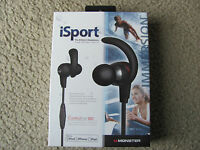 New Monster iSport Immersion In-Ear Headphones with ControlTalk 128694-00 Black