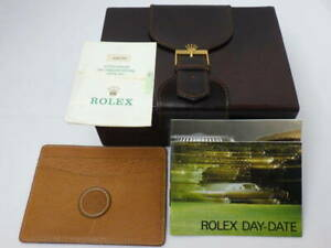 Rolex genuine Day-Date 18039 Watch box case Guarantee Booklet Card case c688910