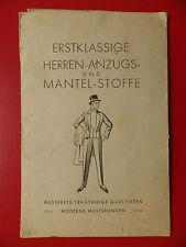alte Mustermappe mit Muster für Mantel u. HERREN Anzugs - Stoffe um 1920 ( 15010