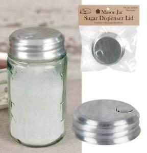 Mason Jar Sugar Dispenser Lid - Aluminum - Sugar, Salt, Spices - NEW