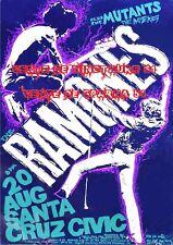 The Ramones Santa Cruz - Métal - affiche plastifiée