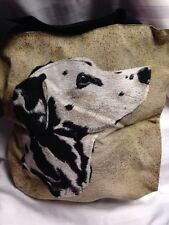 Dalmatian Dog Head Portrait Jacquard Woven Tapestry Tote book Bag purse NEW USA