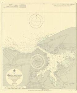 Havana Harbour, Cuba. Caribbean. ADMIRALTY sea chart 1954 (1955) old map