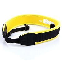 Yellow Neoprene Camera Neck Strap / Shoulder Belt for NIKON DSLR Camera Strap
