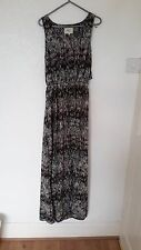 Brown and white mix unusual maxi dress UK 14/16 - MAKE ME AN OFFER