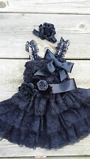 bride flower girl dress sash birthday outfit tea party girl dress dusty pink ivo