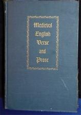 MEDIEVAL ENGLISH VERSE AND PROSE $8.95