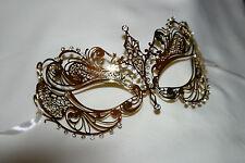 Elegante ORNATA delicato di Metallo Oro Veneziano Masquerade Carnival Party occhi maschera