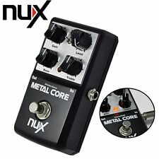 NUX Metal Core Distortion Effect True Bypass Guitar Effects Pedal 2-Band EQ Tone