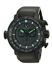 Zodiac ZMX Men's Special Ops Black Stainless Steel Watch with Rubber Band ZO8560