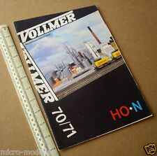 1970/71 Vollmer W.Germany Lineside Accessory Kit Catalogue H0+N. Netherlands
