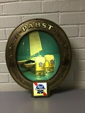 Vintage Working Pabst Blue Ribbon Lighted Beer Bar Sign 16 1/2� X 13 3/4� X 3