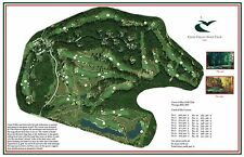 Caves Valley Golf Club - 1991 - Tom Fazio a Vintage Golf Course Map