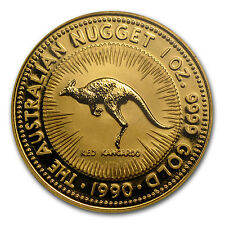1990 Australia 1 oz Gold Nugget BU - SKU #67405