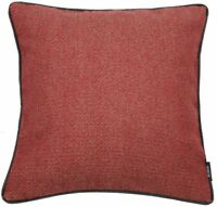 McAlister Textiles Herringbone Boutique | Red with Charcoal Cushion Covers & P..
