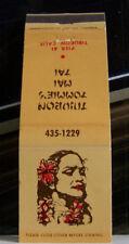 Rare Vintage Matchbook Cover K1 Tiburon California Yummie's Mai Tai Lovely Girl