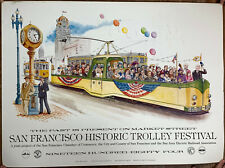 1984 San Francisco Historic Trolley Festival Event Poster/Print on Thick Matte
