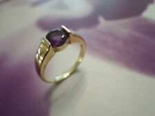 Yellow Gold Natural Round Fine Gemstone Rings