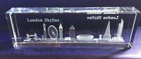 London Skyline 3D Laser Cut Crystal Glass Showpiece Paper Weight Souvenir Gift