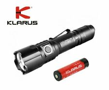 New Klarus FX10 Zoomable USB Cree XP-L 1000 Lumens LED Flashlight (With Battery)