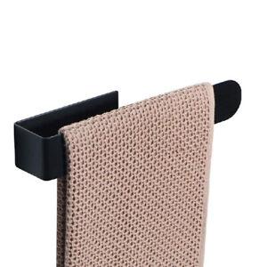 Bathroom Toilet Hand Towel Rail Holders Black Stainless Steel Self Adhesive UK