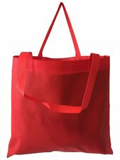 100 PCS - RED Color Non Woven Reusable Grocery Tote Bag Large Bulk Free Shipping