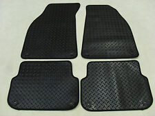 Audi A6 (NOT Quattro) 2004-09 Fully Tailored Deluxe RUBBER Car Mats in Black