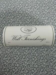 Vintage Uk Laura Ashley 70s Grey White Ditsy Floral Trailing Geranium Wallpaper
