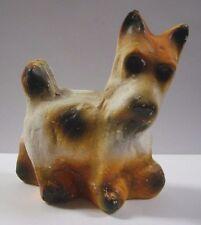 """Vintage Scottie Terrier Dog Figurine Chalkware Ceramic Scottish Large 4.5"""" x 5"""""""