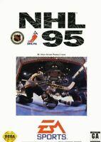 Complete NHL 95 Original Sega Genesis Game