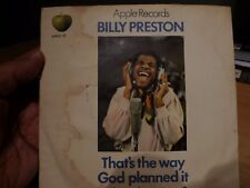 BILLY PRESTON - APPLE RECORDS - THE BEATLES - THAT'S THE WAY GOD PLANNED IT - PC