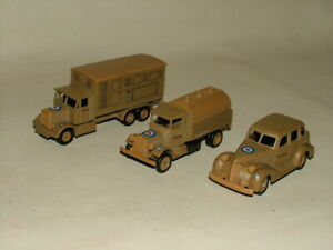 VINTAGE WW2 MILITARY DAYS GONE DIECAST AIR FORCE VEHICLES CAR TRUCK TANKER LOT