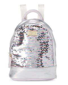 Luv Betsey Jaz Mini Size PVC Backpack Lavender Sequin Iridescent