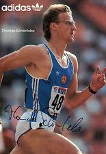 1160 THOMAS SCHÖNLEBE Leichtathletik 1988 DDR orig.sign. AK 400m-WELTMEISTER