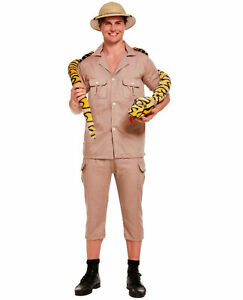 Mens Safari Explorer Fancy Dress Costume Adults Ladies Zoo Keeper Forest Outfit