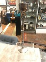 Vintage Tall Silver Plate Mid Century Modern Candle Stick Candle Holder