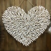 Branches Natural Heart Wall Decor Cream Colour 80cm