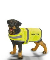 personalised dog high vis dog vest jacket - embroidered with any text