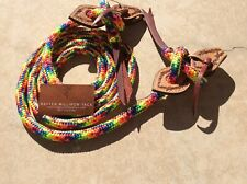 Double Braid Mecate Reins 10' With Slobber Straps